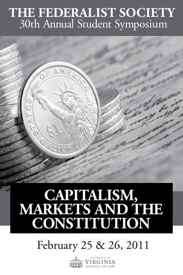 CAPITALISM, MARKETS AND THE CONSTITUTION - University of ...