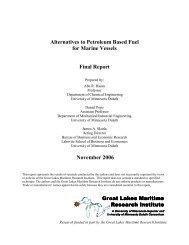 Alternatives to Petroleum Based Fuel for Marine Vessels Final ...
