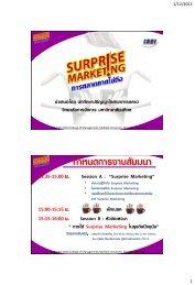 Surprise Marketing - Mahidol University