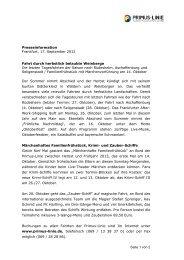 Seite 1 von 2 Presseinformation Frankfurt, 17 ... - Primus-Linie