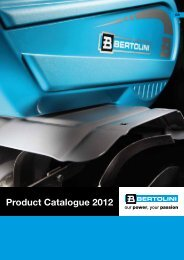 Product Catalogue 2012 - Bertolini