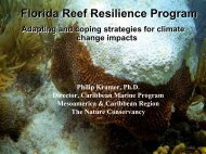 Phil Kramer, The Nature Conservancy, Florida Reef Resilience Project
