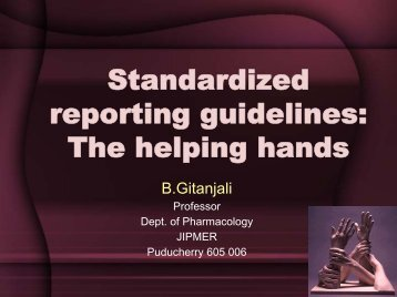 Standardized reporting guidelines: The helping hands