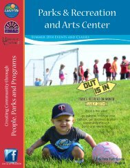 Parks & Recreation and Arts Center - City of Lakeville