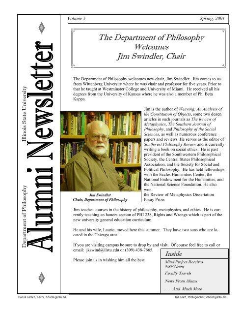 Newsletter Template - Philosophy - Illinois State University