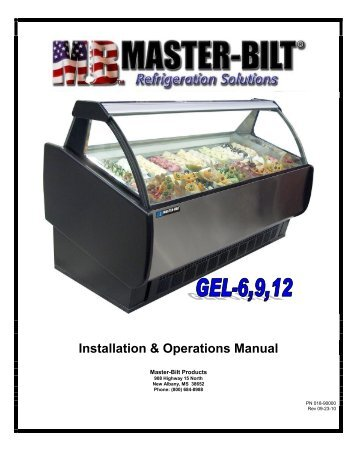 4 r23 r49 refrigerator rh yumpu com Master Bilt Freezer Manual Master Bilt Freezer Parts