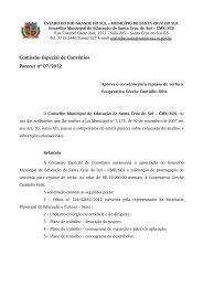 Parecer nº 07, de 06 de agosto de 2012 - Prefeitura de Santa Cruz ...