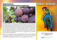 Saisonale Lebensmittel entdecken - Bike2school
