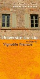 Université sur Lie - Sèvre Nantaise