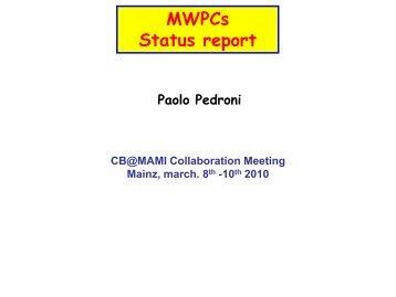 MWPCs - A2 Mainz
