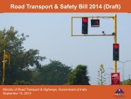 Road Transport and Safety Bill 2014 Draft-vision