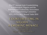 Counterfeiting in Nigeria - GACG