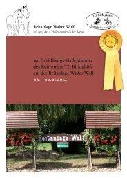 Turnierheft (15 MB, pdf) - Reitanlage Wolf in Eppelheim