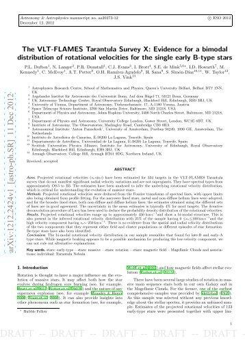 draft -- draft -- draft -- draft -- draft - Instituto de Astrofísica de Canarias