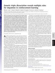 Genetic triple dissociation reveals multiple roles for ... - Michael Frank
