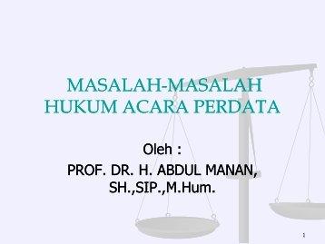 berbagai masalah hukum acara dalam praktek peradilan ... - MS Aceh