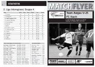 Team Aargau U-21 FC Ibach MATCHFLYER - FC Aarau