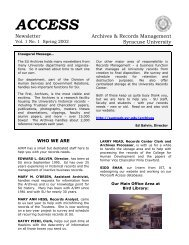 ACCESS - Archives - Syracuse University