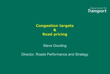 Congestion targets in England