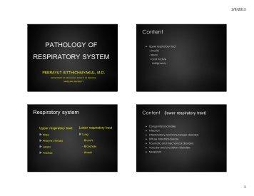 Pulmonary tuberculosis - Faculty of Medicine