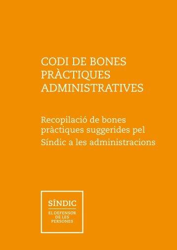 CODI DE BONES PRÀCTIQUES ADMINISTRATIVES