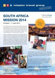 SOUTH AFRICA MISSION 2014 - Mission Travel
