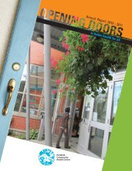 Annual Report 2010 - Parkdale Community Health Centre