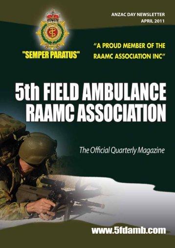 ANZAC DAY NEWSLETTER APRIL 2011 - RAAMC Association