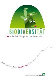 die bedeutunG der biodiVersität 7. - Pro Natura
