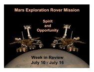 July 16 - Mars Exploration Rover Mission - NASA