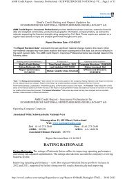 A.M. Best Rating Report of 19 December 2012 - Nationale Suisse ...