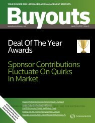 Deal of the Year Awards - KPS Capital Partners LP
