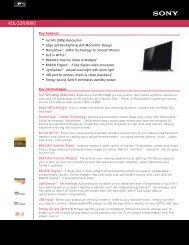 KDL-52NX800 - US Appliance