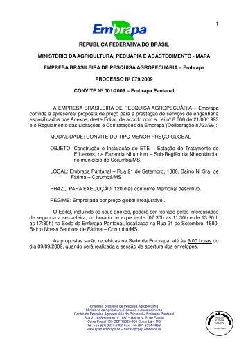 1 república federativa do brasil ministério da agricultura, pecuária e ...