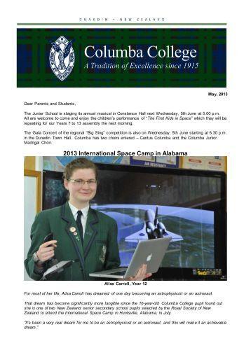 May, 2013 - Columba College