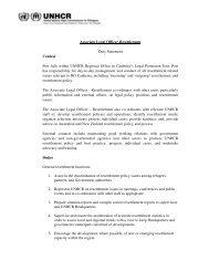 Associate Legal Officer-Resettlement Duty Statement ... - unhcr