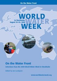 On the Water Front vol. 1 - World Water Week