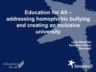 Education for All – Challenging homophobic ... - University of York