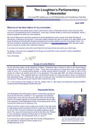link to newsletter - Loughton, Tim