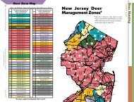 Deer Zone Map New Jersey Deer Management Zones