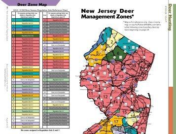 Deer Zone Map New Jersey Deer Management Zones