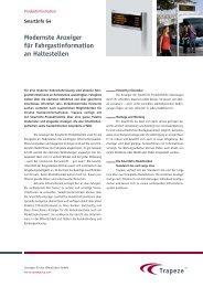 Modernste Anzeiger für Fahrgastinformation an ... - Trapeze Group