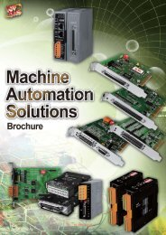 Machine Automation Solutions Brochure - ICP DAS