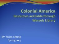 Research in History - Newberry College