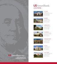 LOCATIONS - USAmeriBank