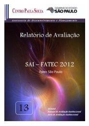Relatório de Avaliação SAI - FATEC-SP - 2012