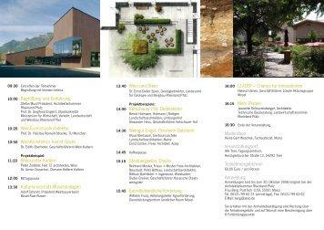10:00 Begrüßung und Einführung 10:20 WeinTourismusArchitektur ...