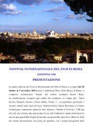 festival internazionale del film di roma 2010 ... - lostatoperfetto.it