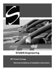 STaSIS Installation Instructions - Vivid Racing