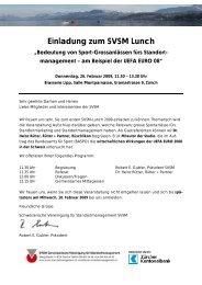 Einladung zum SVSM Lunch - SVSM - Schweizerische Vereinigung ...